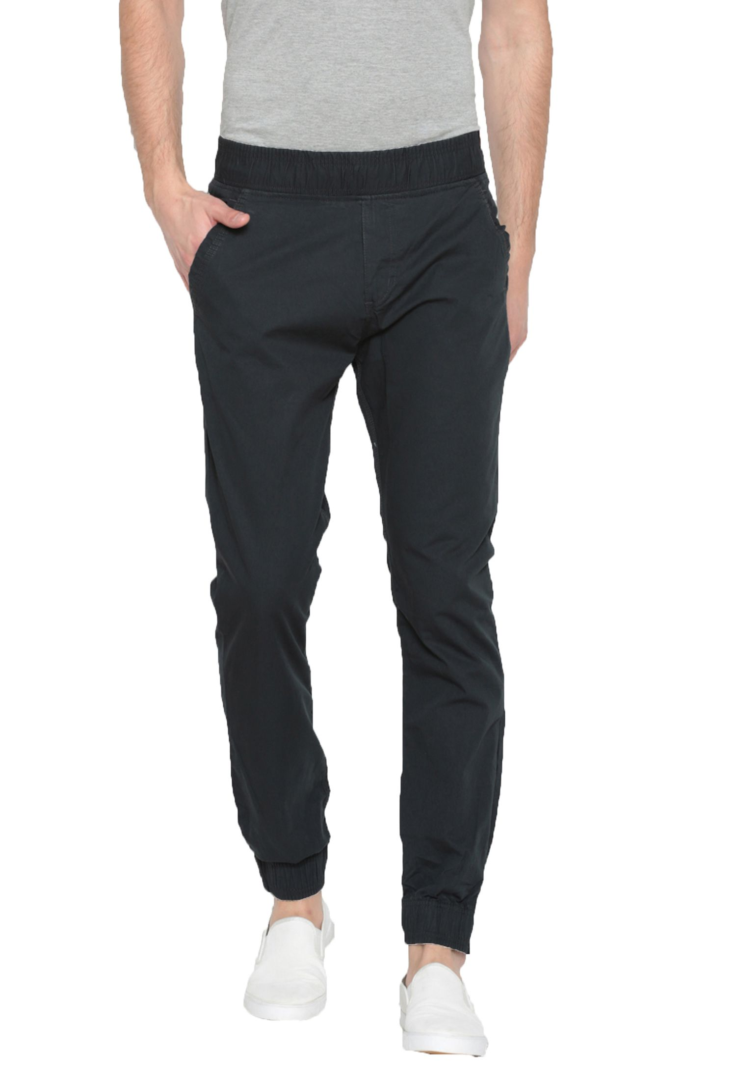 Sports 52 Wear Navy Blue Slim -Fit Flat Joggers