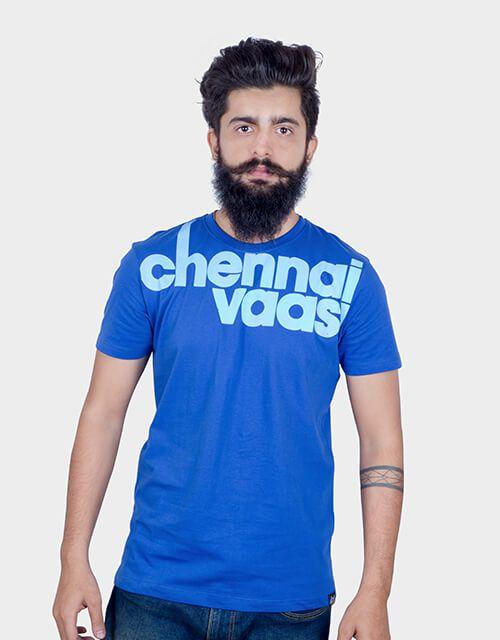 ANGI Blue Round T-Shirt Pack of 1