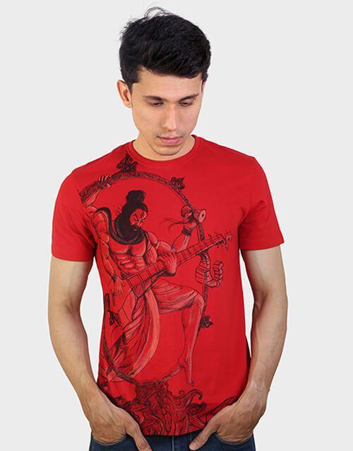 ANGI Red Round T-Shirt Pack of 1