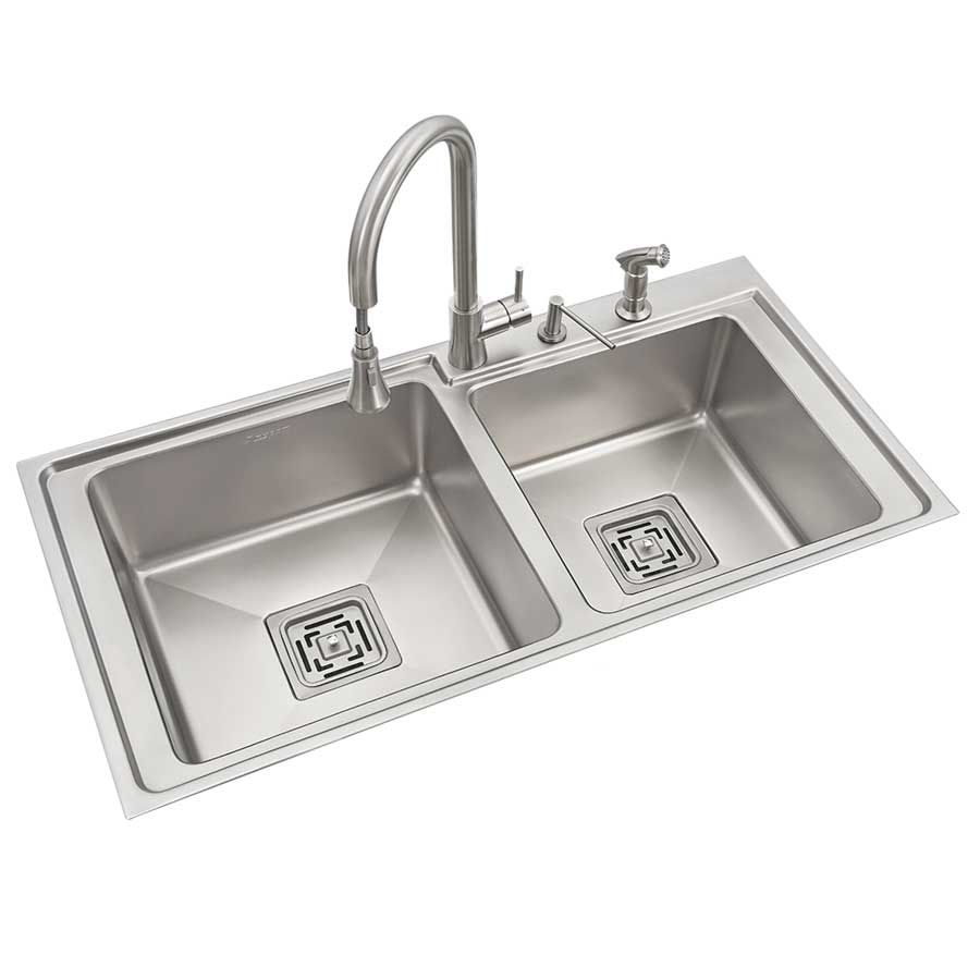 Buy Anupam Stainless Steel Double Bowl Sink Without