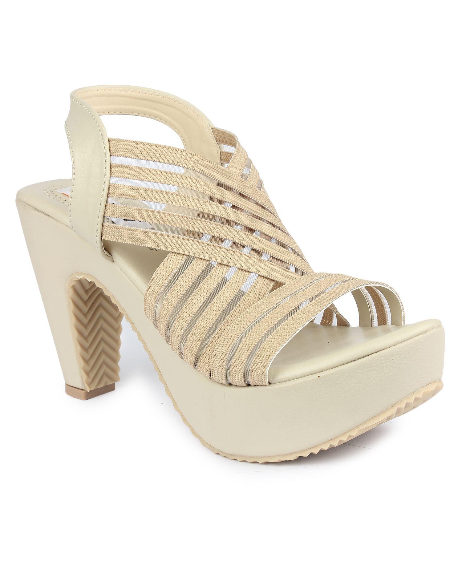 DIGNI Cream Cone Heels