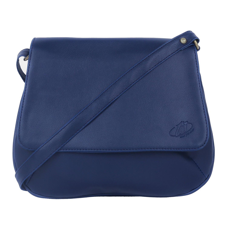 TI Blue P.U. Shoulder Bag