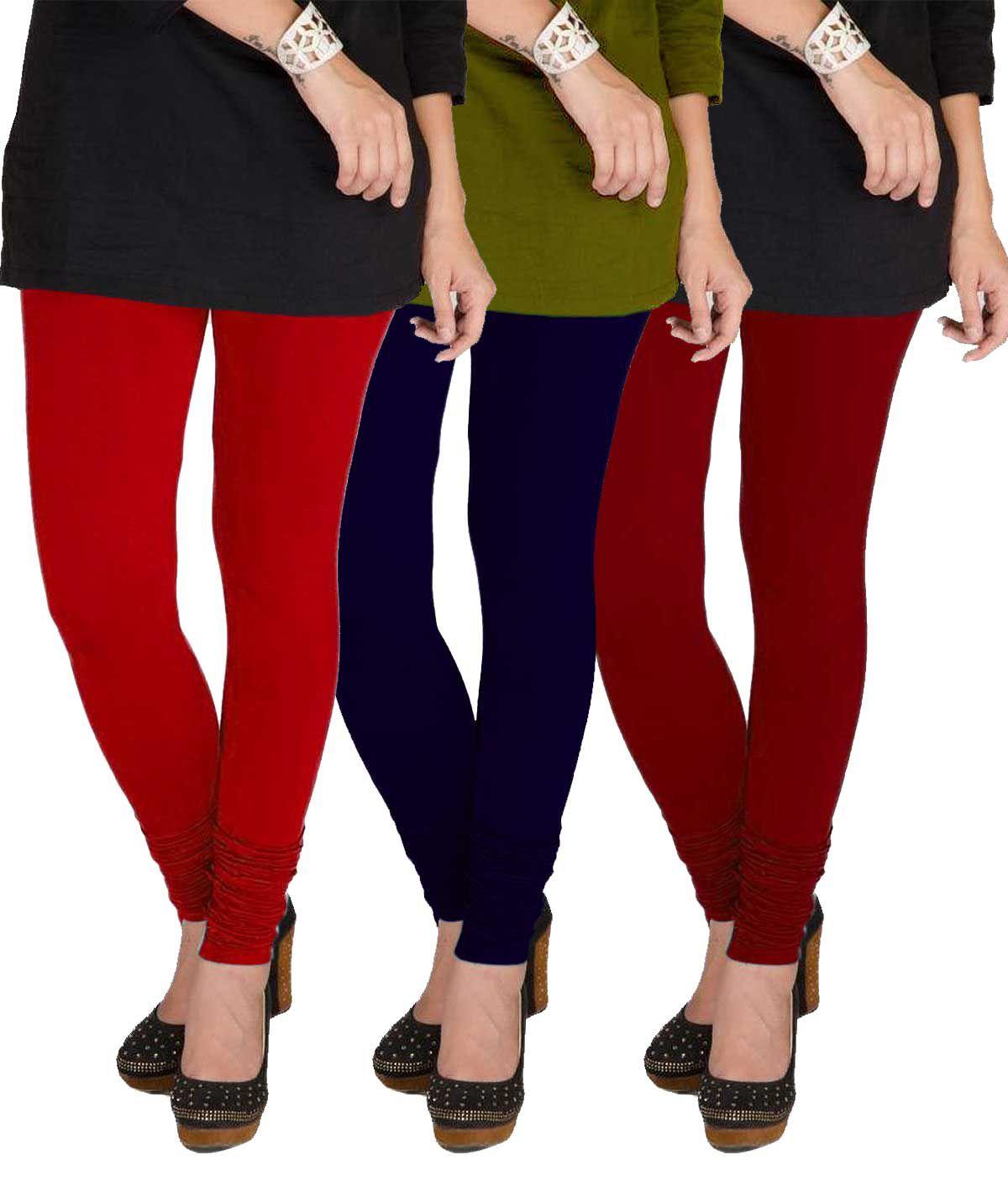TBZ Cotton Lycra Pack of 3 Leggings