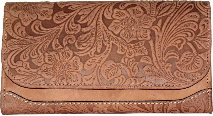 TAMANNA Tan Pure Leather Box Clutch
