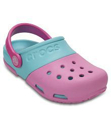 Crocs Pink Electro II Clogs for Boys & Girls