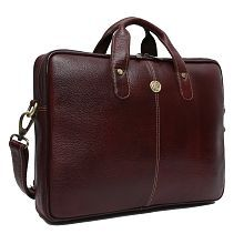 HAMMONDS FLYCATCHER Latest Design Brown Leather Office Bag-14 Inch