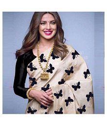 Vinayak Textile Black Silk Saree