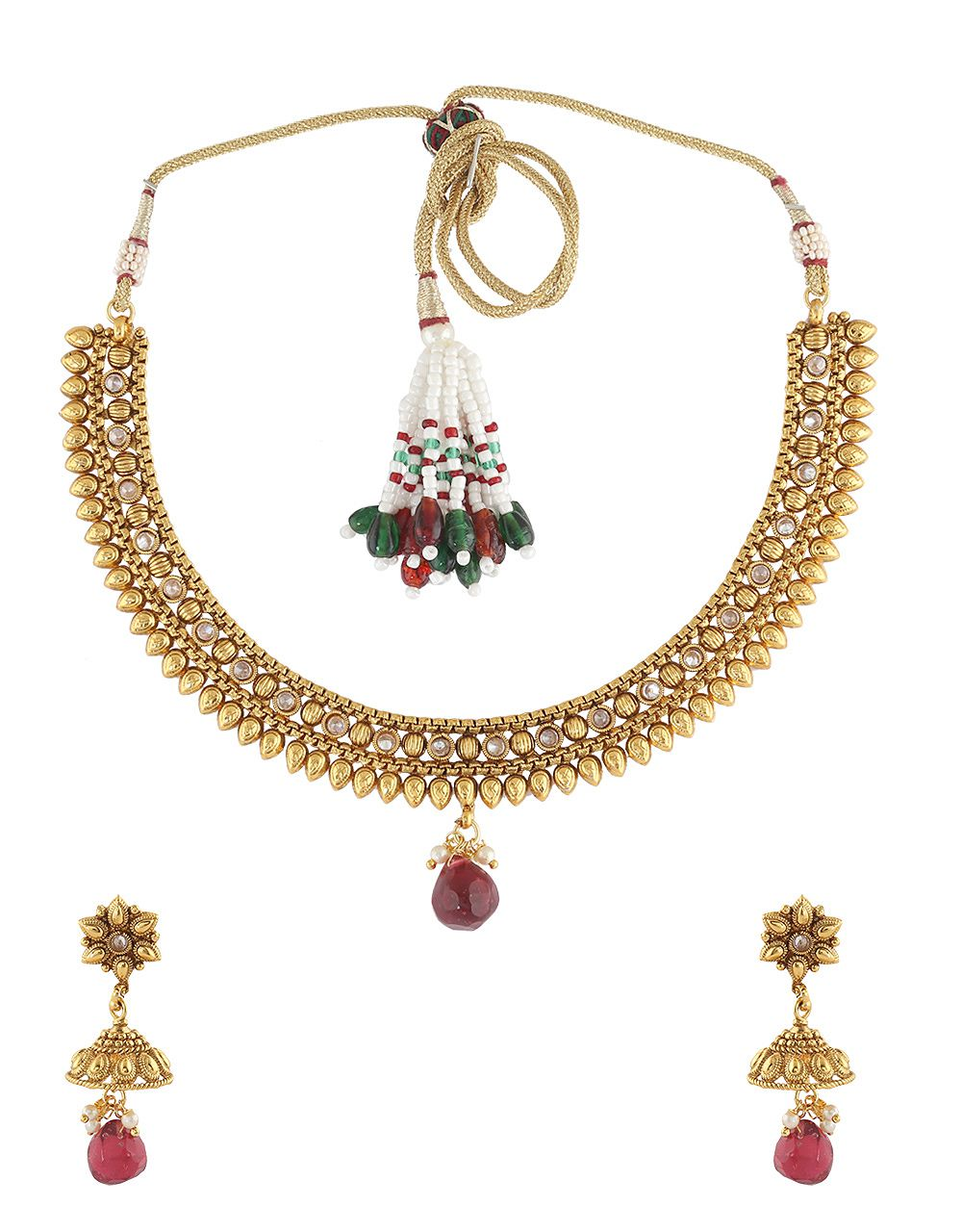 c77b2f30a Anuradha Art Red Colour Simple   Stylish Wonderful Designer Traditional  Necklace Set For Women Girls - Buy Anuradha Art Red Colour Simple   Stylish  ...