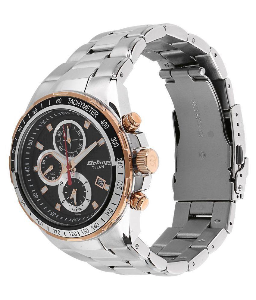 54ea5ba8f1 Titan Octane Silver Dial Chronograph Watch For Men 90085KM02 - Buy ...