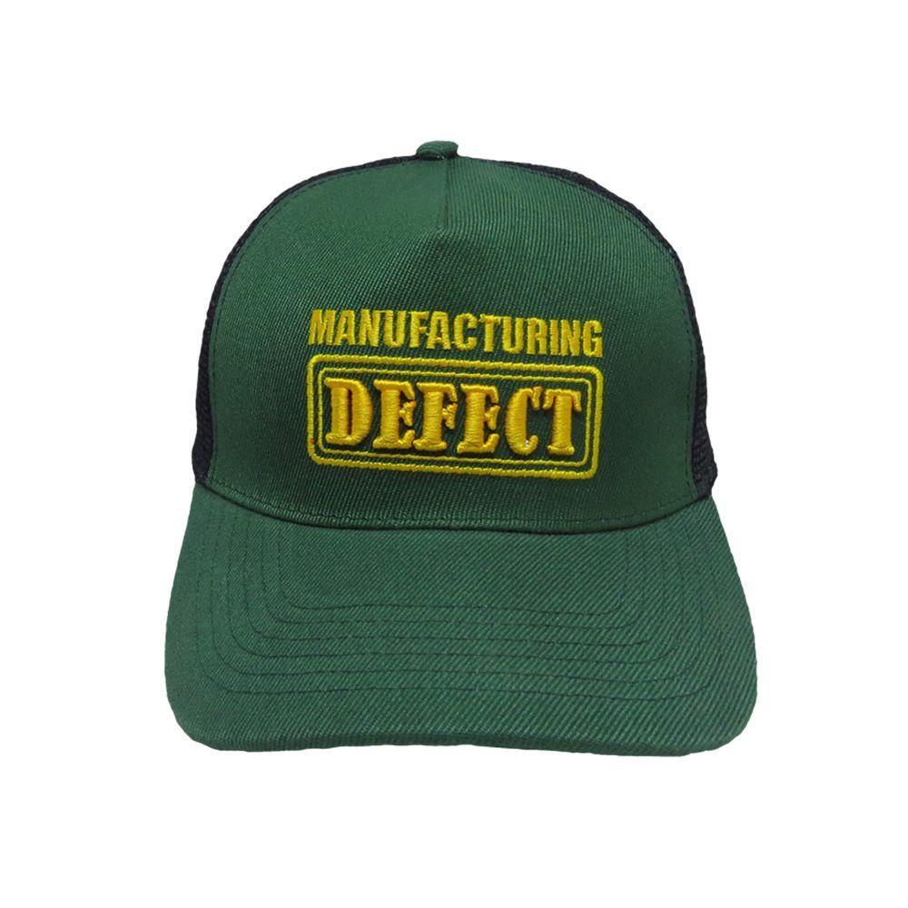 Kapture Headwear Green Polyester Caps