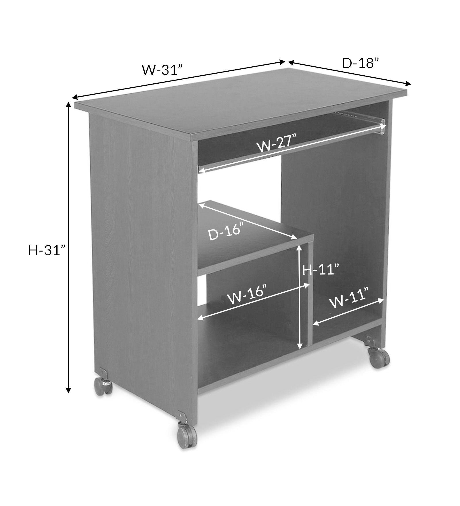 Crystal Furnitech Engineered Wood puter Desk Straight Finish