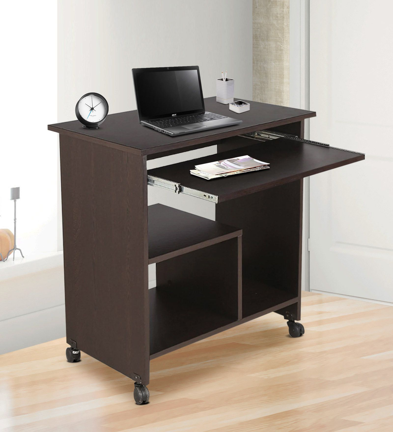 crystal furnitech engineered wood computer desk straight finish rh snapdeal com
