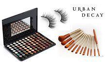 IMPORTEDD Mac Professional Make up 88 Shade Eyeshadow Palette & Urban Decay Makeup Brush Set with Storage Box With Eyelashes Makeup Kit gm