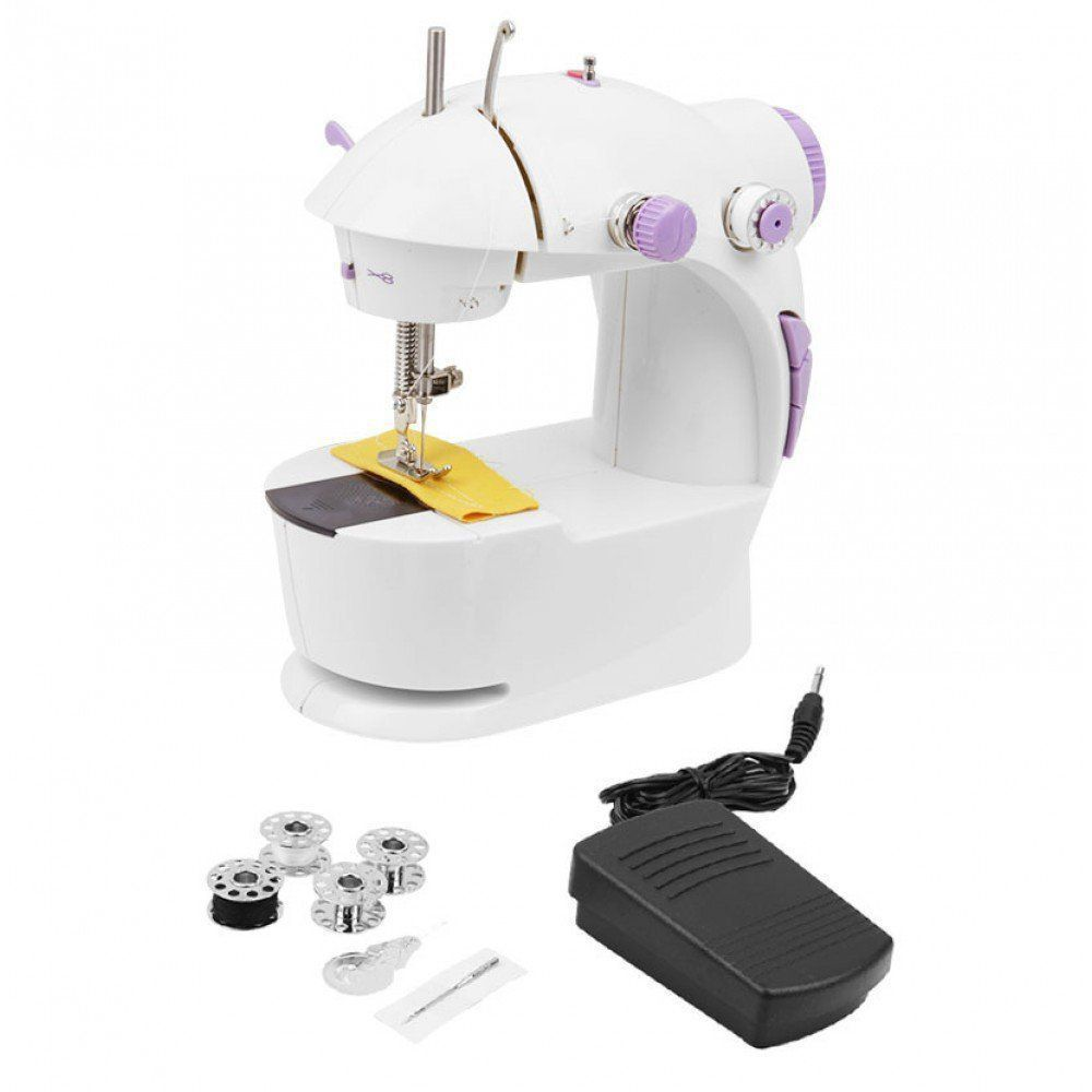 4 in 1 Mini Sewing Machine With Foot Pedal,Bobbin ...