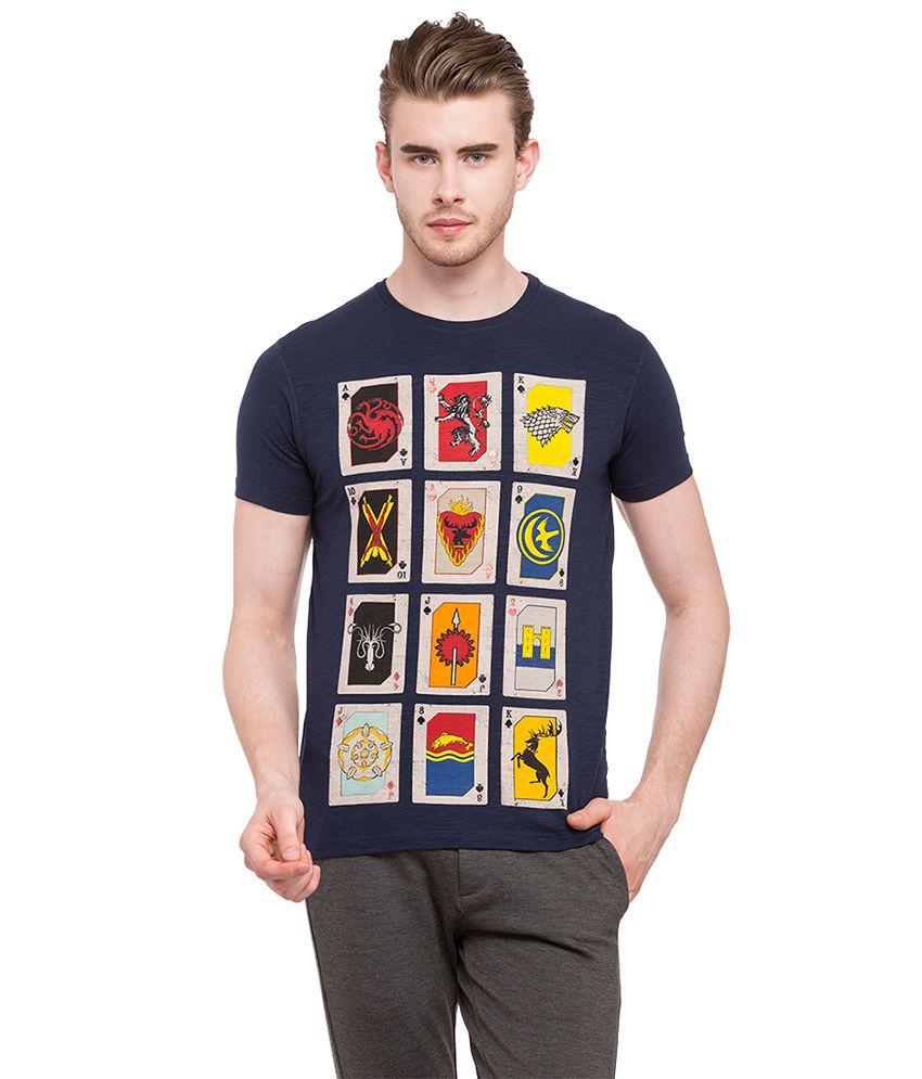 Status Quo Navy Round T-Shirt