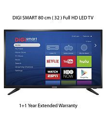 DIGI SMART DIGI-32 80 cm ( 32 ) Full HD (FHD) Smart LED Television With 1+1 Year Extended Warranty