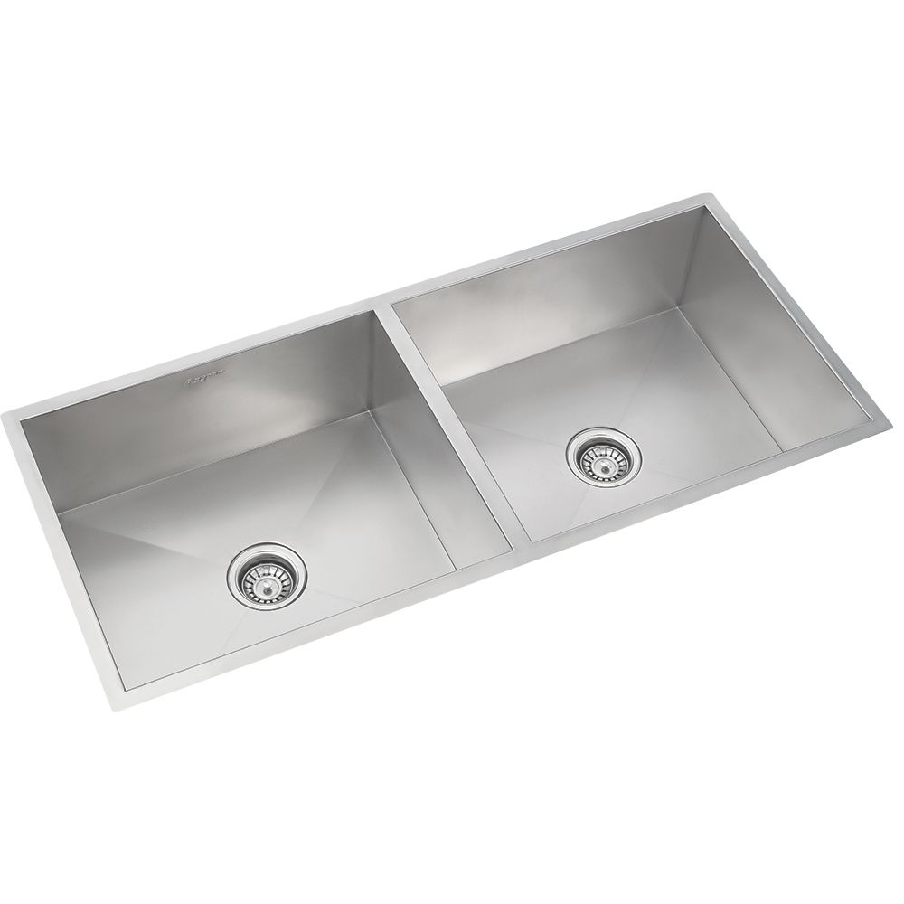 Anupam Stainless Steel Double Bowl Sink Without