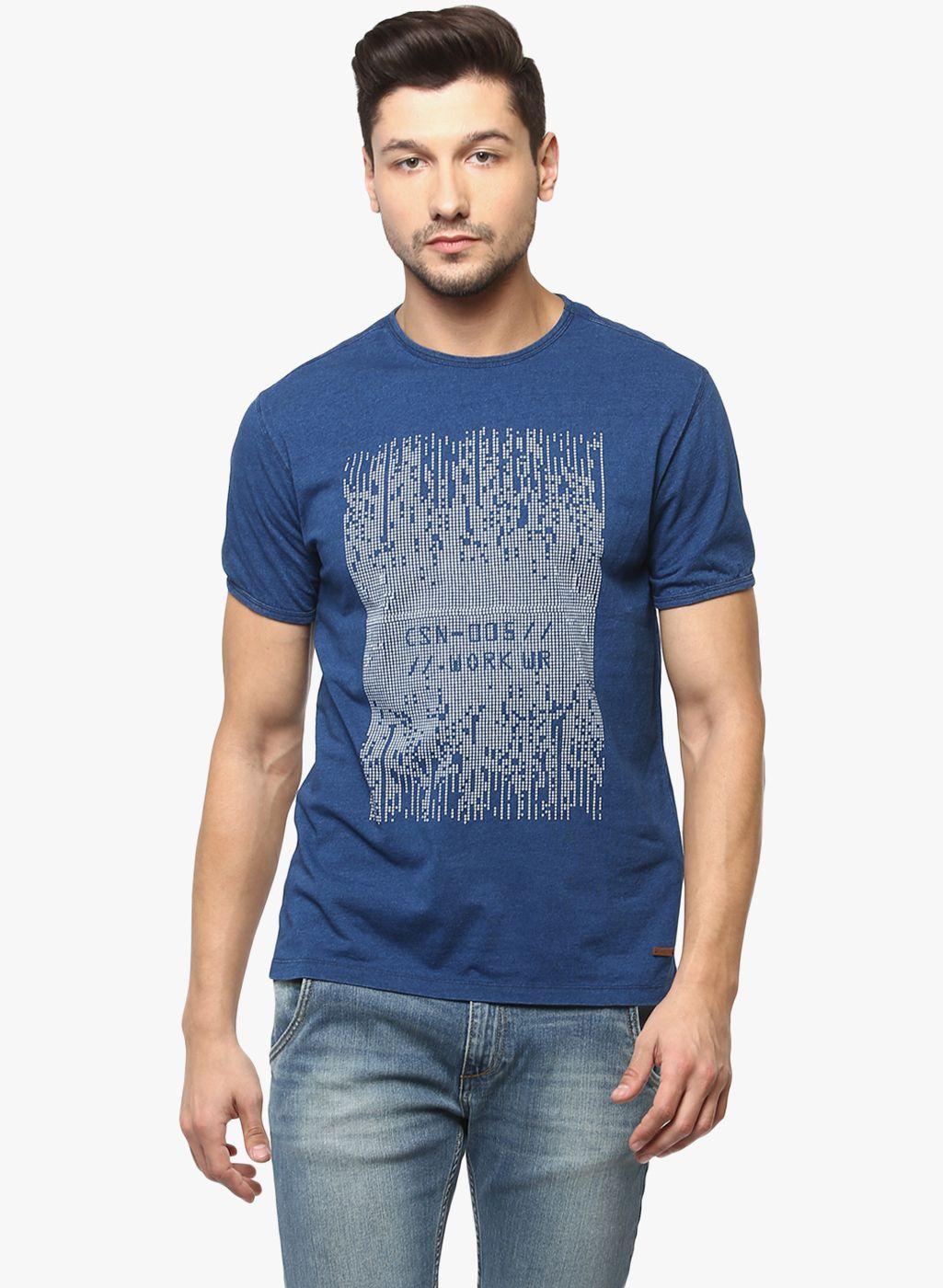Crimsoune Club Blue Round T-Shirt
