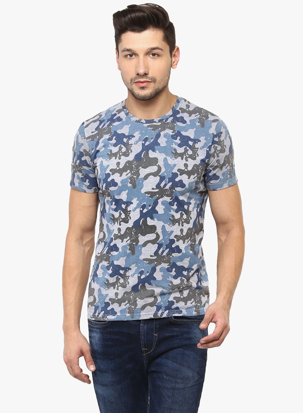 Crimsoune Club Grey Round T-Shirt