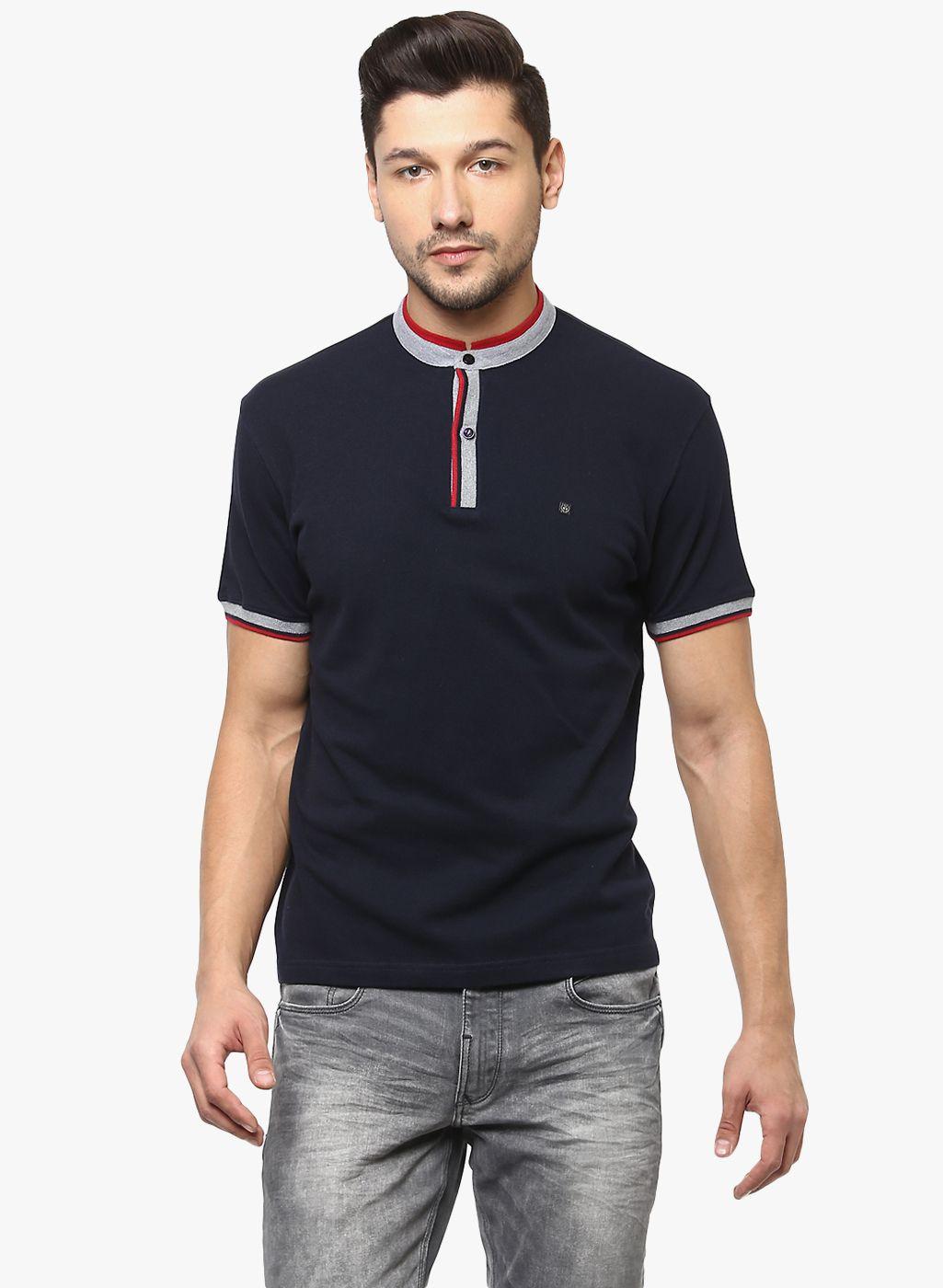 Crimsoune Club Navy Henley T-Shirt