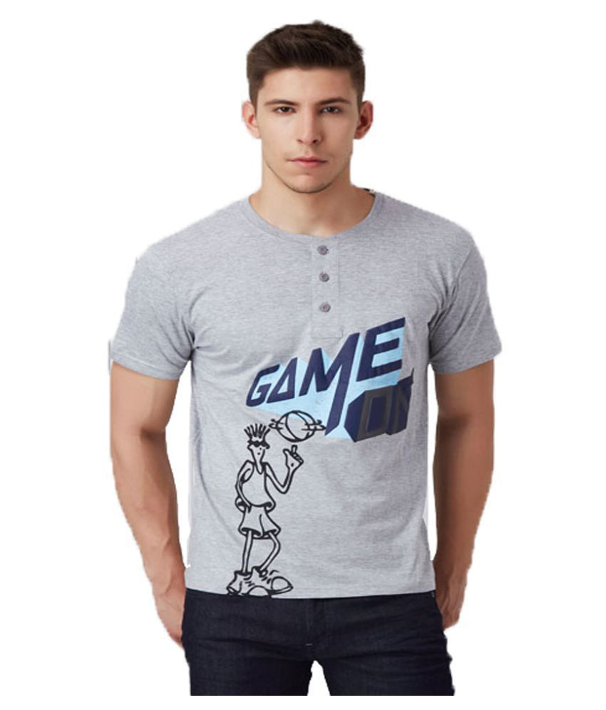 FIDO DIDO Grey Henley T-Shirt Pack of 1