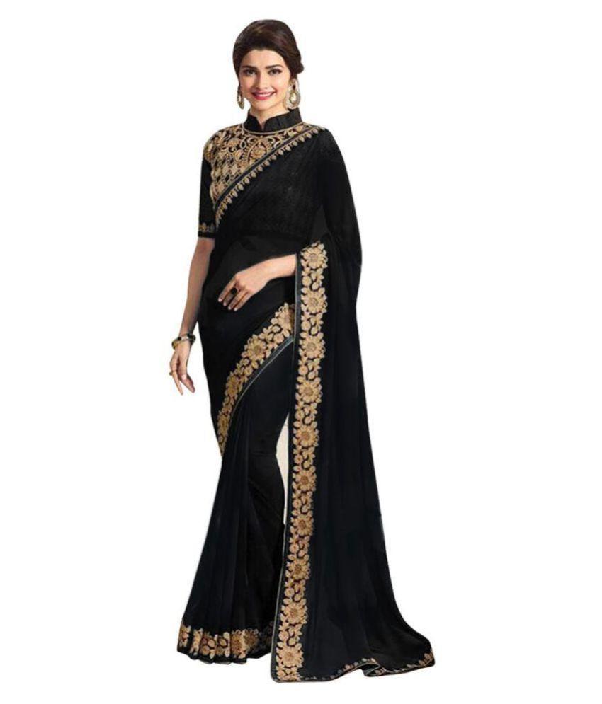Party Wear Sarees Multicoloured Chiffon Saree