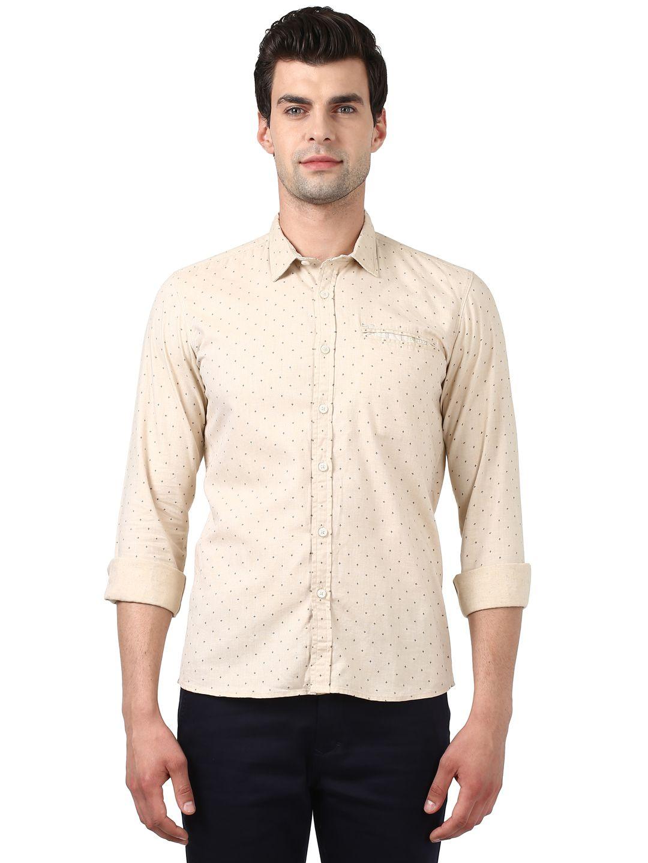 Colorplus Beige Regular Fit Shirt