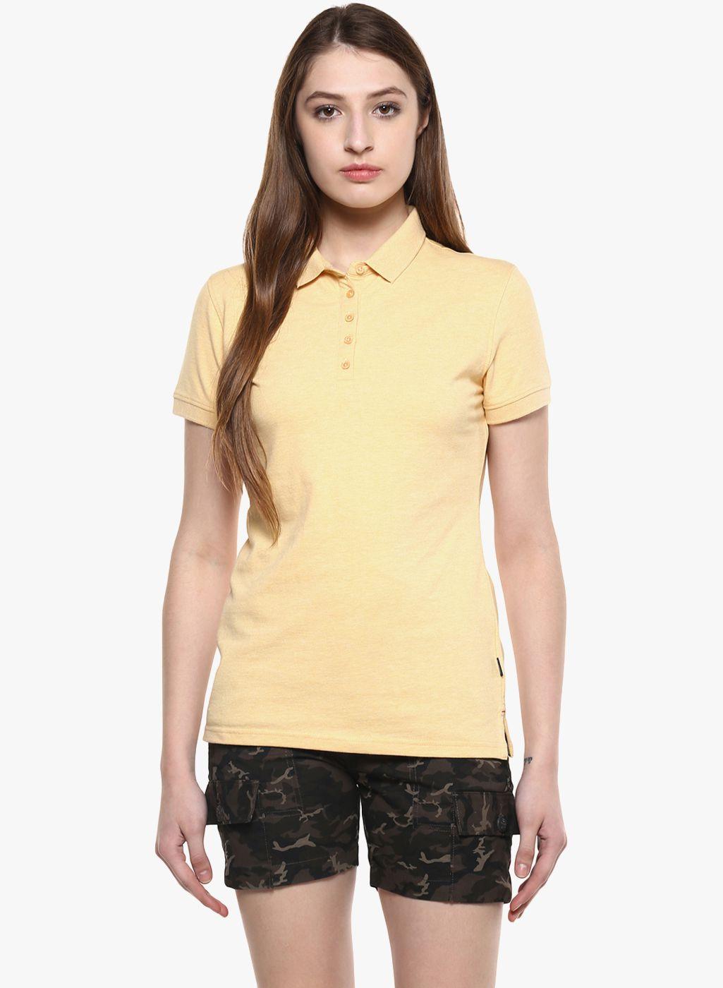 Crimsoune Club Cotton Yellow Polos