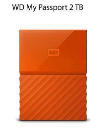 WD MY PASSPORT 2 TB USB 3.0 WDBYFT0020BOR-WESN Orange