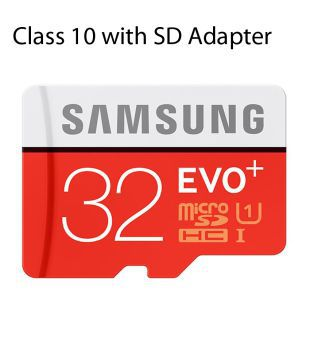 Samsung EVO Plus Class 10 UHS 1 32  GB MicroSDHC 95MB/S Memory Card with SD Adapter