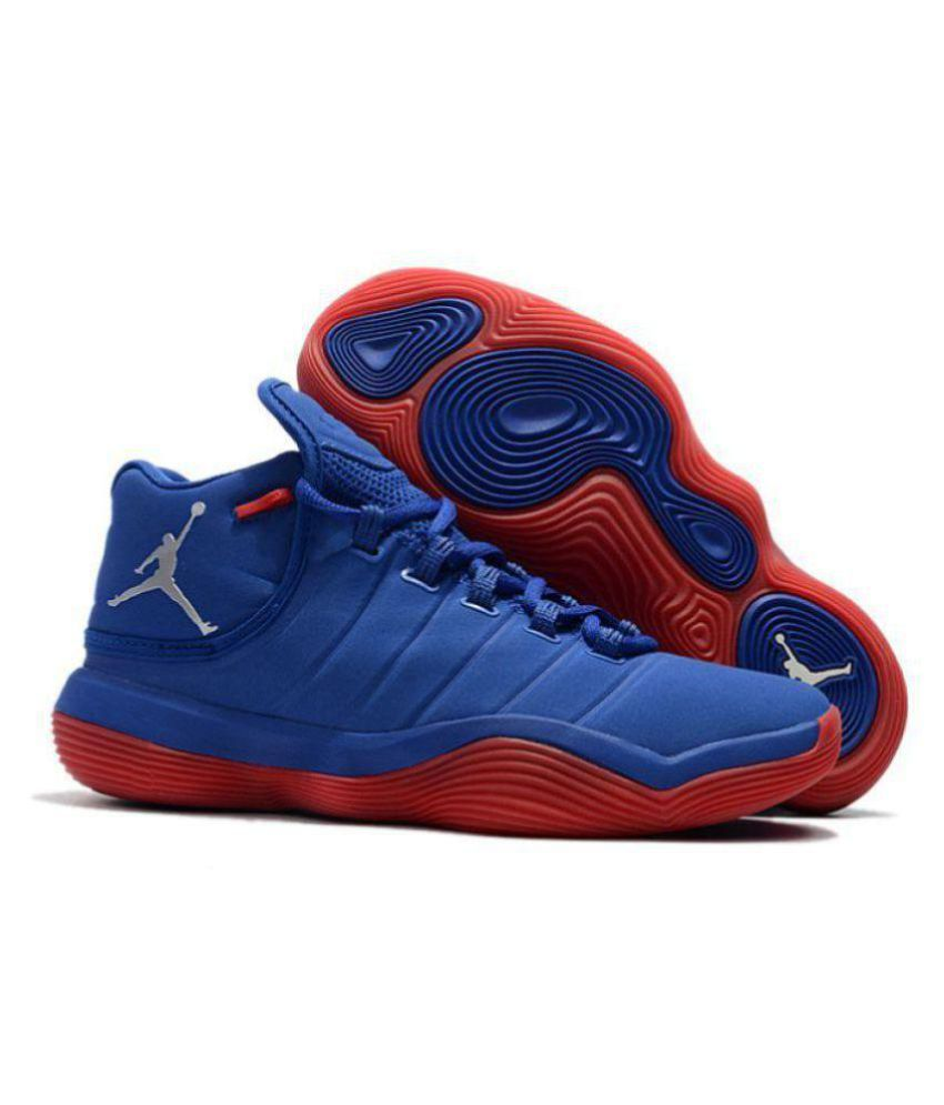 78c646cb3e68b2 Nike Jordan Super.Fly 2017 Blue Red Midankle Male Blue  Buy Online at Best  Price on Snapdeal