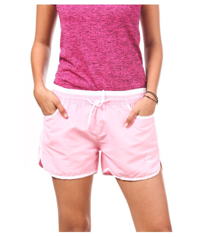 Fit 'N' You Polyester Hot Pants - Pink