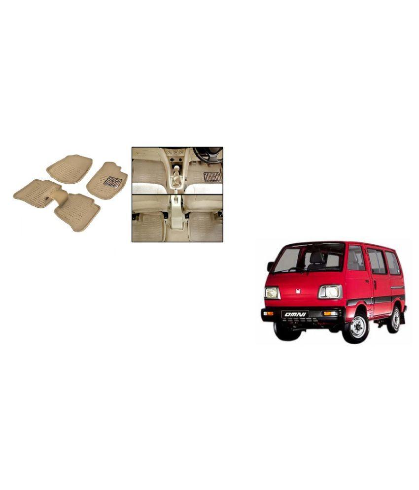 DASS AUTO 3D Rubber Noodles Car Foot Mats Set of 5