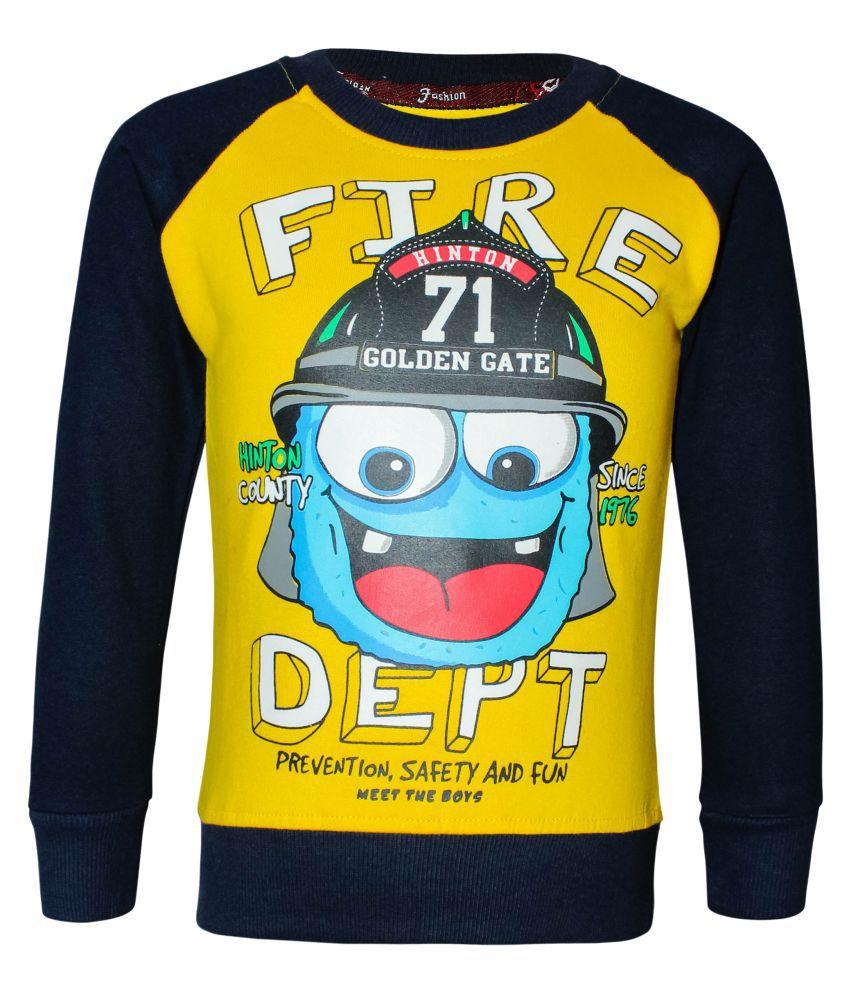 Kothari Full Sleeve Printed Boys Round Neck Sweatshirt