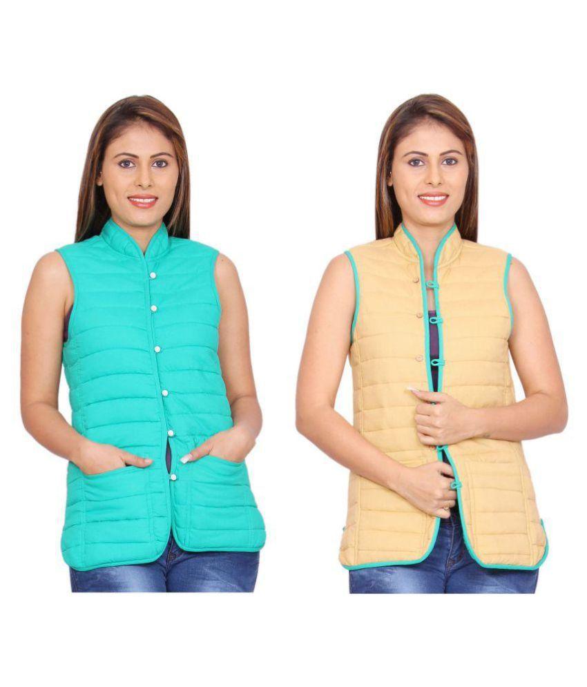 Rama Cotton Turquoise Reversible Jackets