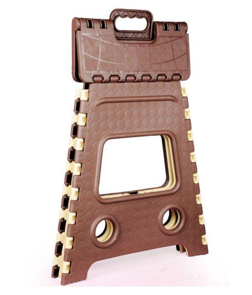 Enjoyable Welldecor Portable Folding Plastic Step Stool 18 Inch Color May Vary Creativecarmelina Interior Chair Design Creativecarmelinacom