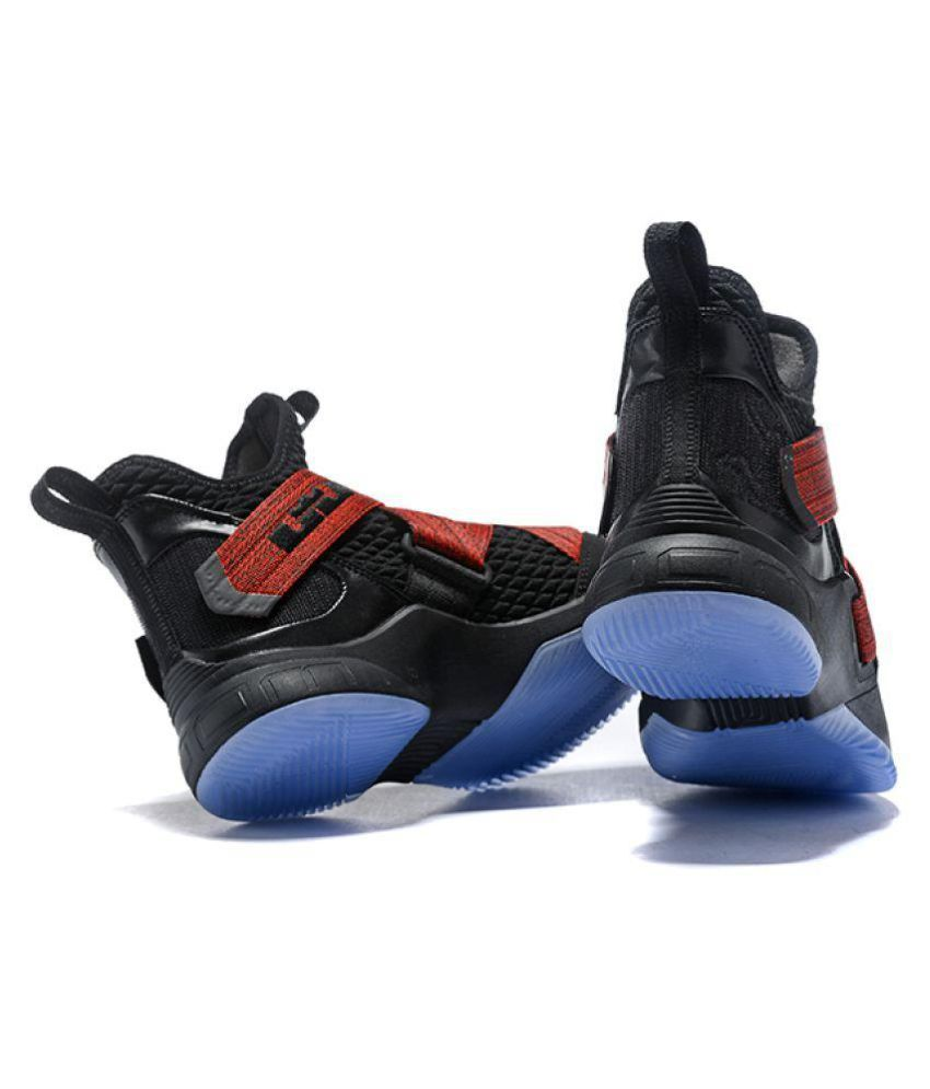 the best attitude 23a47 d5191 Nike Lebron Soldier 12 Black Red Highankle Male Black