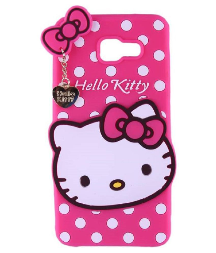 Samsung Galaxy J7 Prime Plain Cases Doyen Creations - Pink 3D Hello Kitty