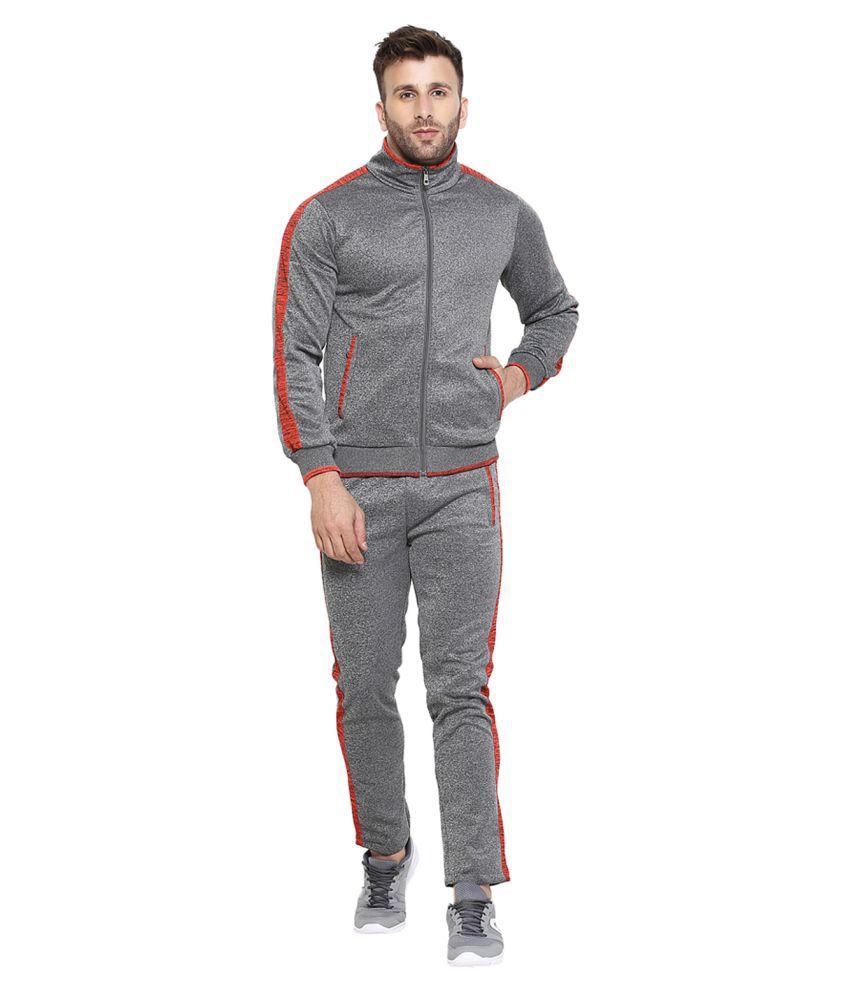 CHKOKKO Men Tracksuit Gym Jogging Running Slim Fit Warm Track Suit for Men