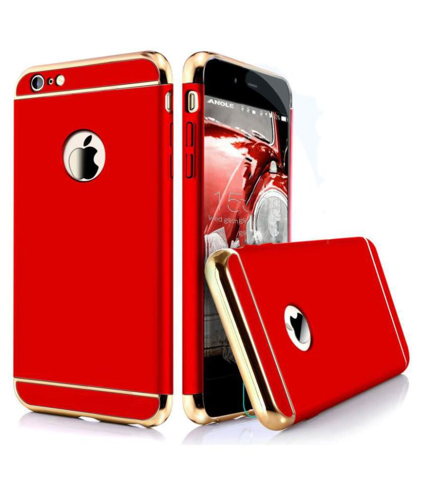 Apple iPhone 6 Plain Cases Bright Traders - Red