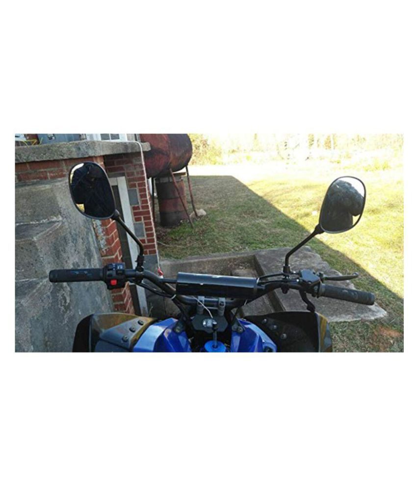 """Set of Rearview Mirror with 7//8/"""" Handlebar Mount for Motocycle Scooter Moped"""