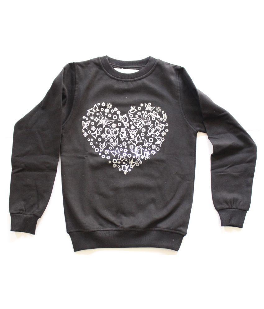 Ilknur Girls Black Sweatshirt