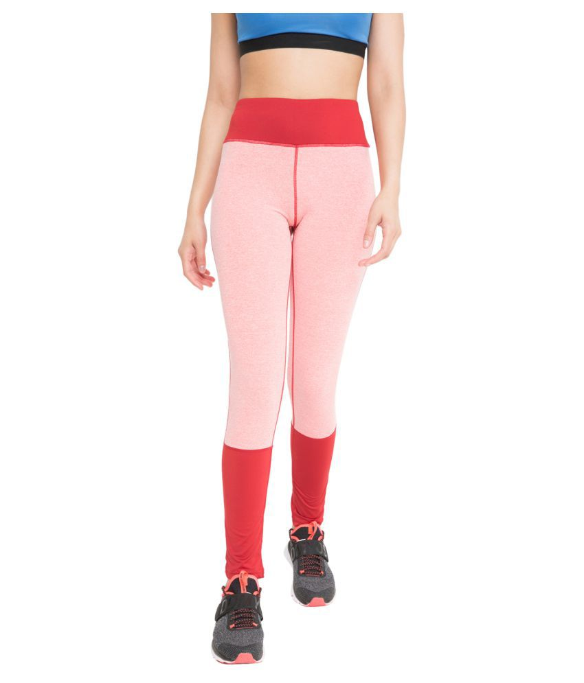 CHKOKKO Women's High Waist Sports Fitness Leggings Gym Tights Stretchable Yoga Pant