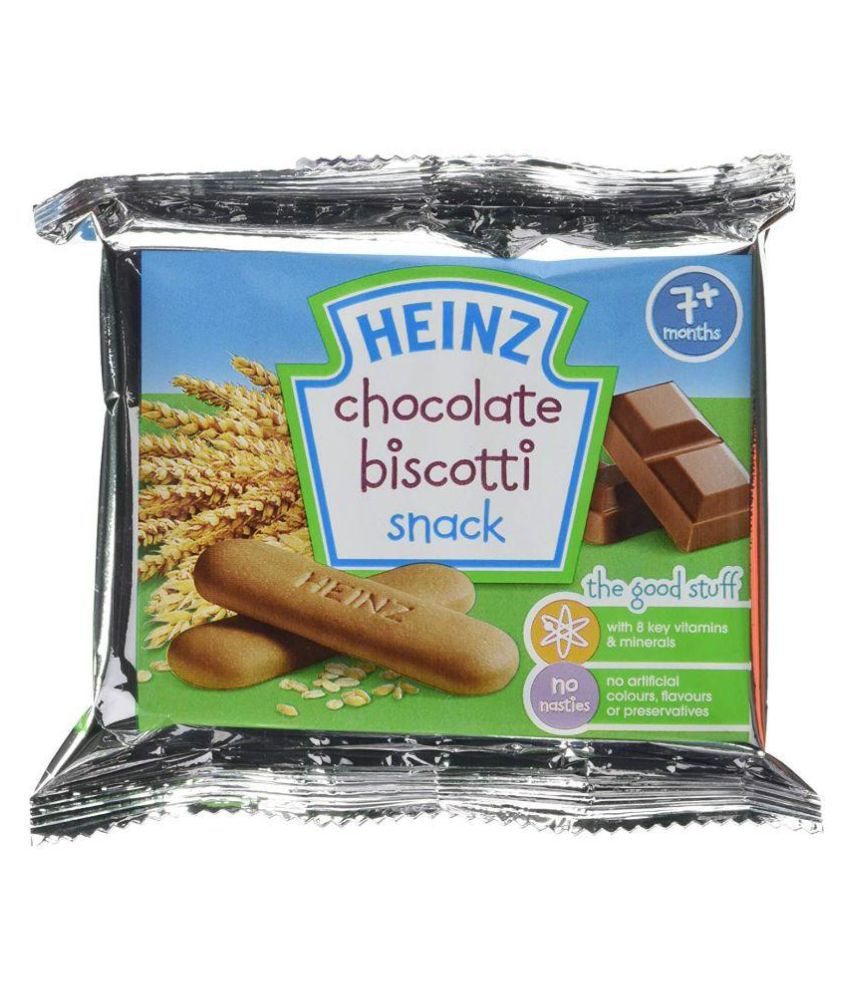 Heinz Chocolate Biscotti Snack Snack Foods for 6 Months + ( 60 gm )