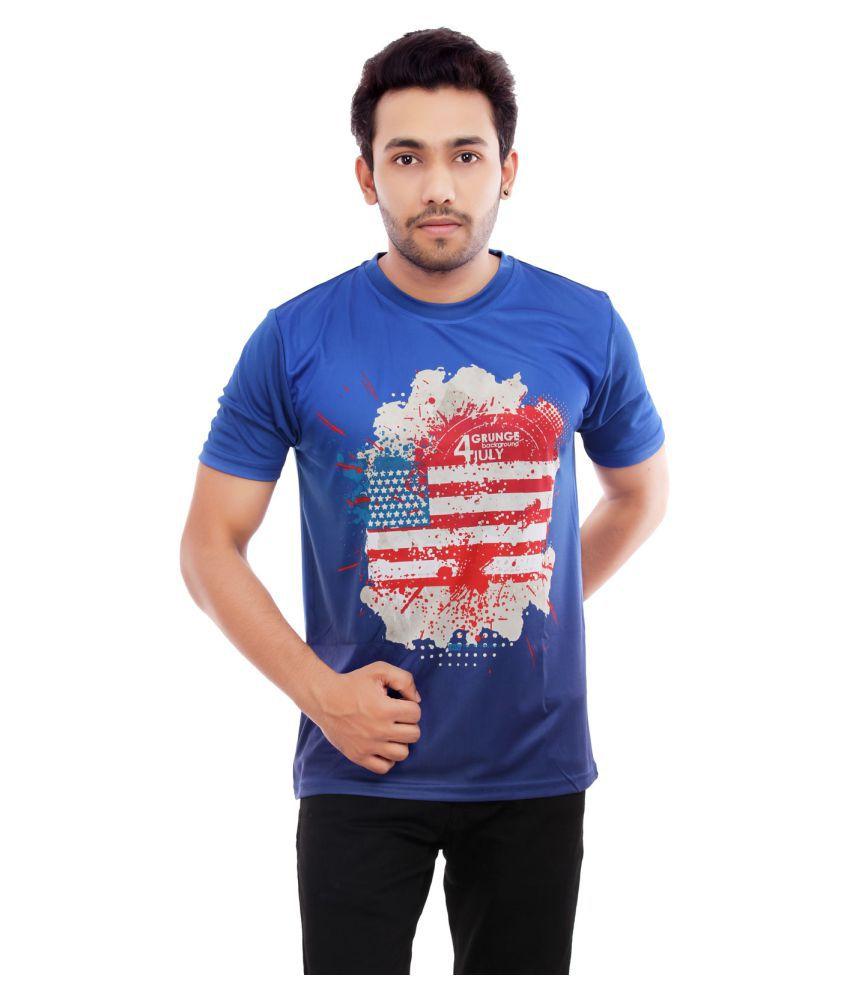 Triumph Blue Half Sleeve T-Shirt Pack of 1