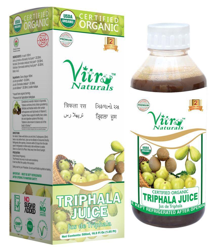Vitro Naturals Certified Organic Triphala Juice Liquid 1 l Pack Of 1