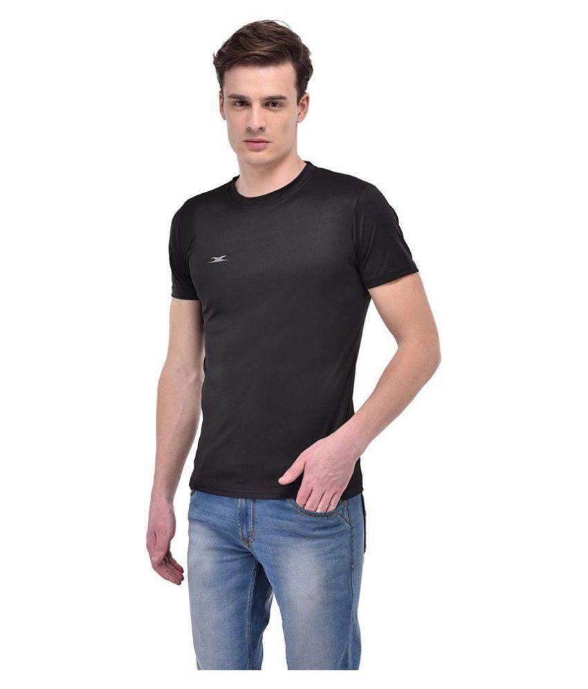 Zagros Black Polyester T-Shirt