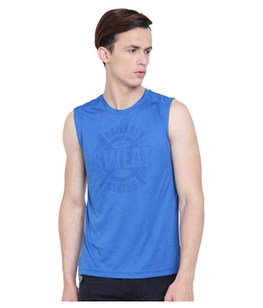 Alcis Blue Polyester T-Shirt Single Pack