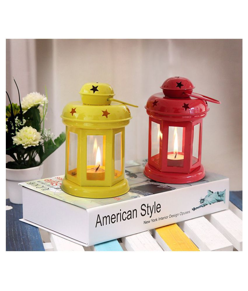Heaven Decor Table top candle holder Hanging Lanterns 15 - Pack of 2