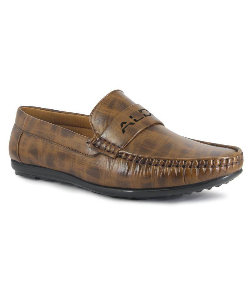 MODA WORLD Brown Loafers